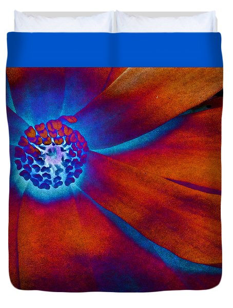 Duvet Cover featuring the photograph Magnolia Electric by Susan Maxwell Schmidt
