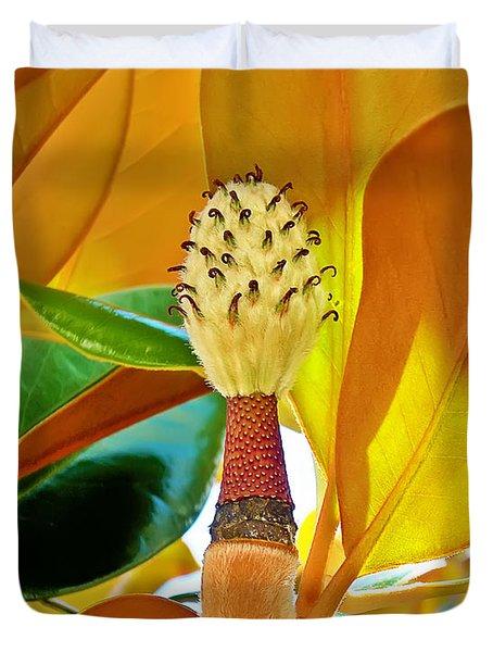Duvet Cover featuring the photograph Magnolia Flower by Olga Hamilton