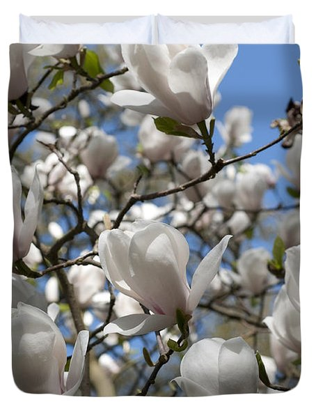 Duvet Cover featuring the photograph Magnolia by Lana Enderle