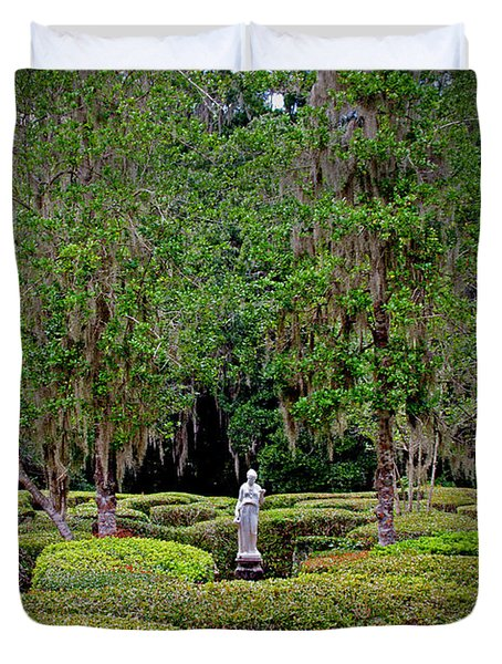 Magnolia Maze Duvet Cover by Jean Haynes