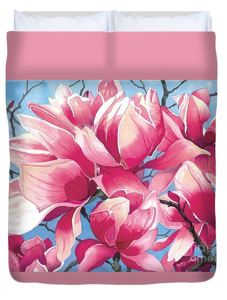 Magnolia Medley Duvet Cover by Barbara Jewell