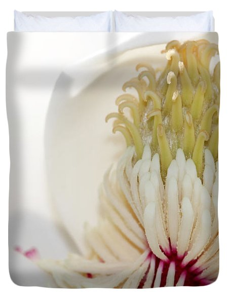 Magnolia Sticky Fingers Duvet Cover by Sabrina L Ryan