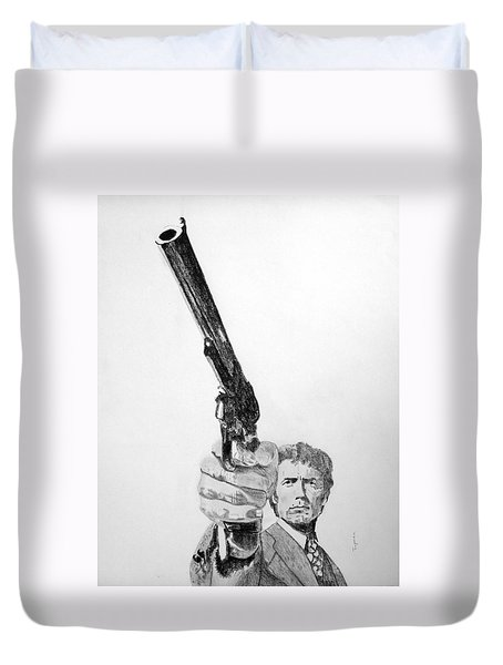 Magnum Force Clint Eastwood Duvet Cover by Dan Twyman