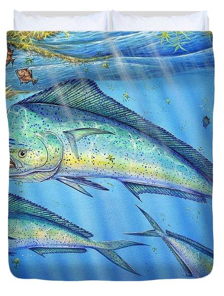 Mahi Mahi In Sargassum Duvet Cover