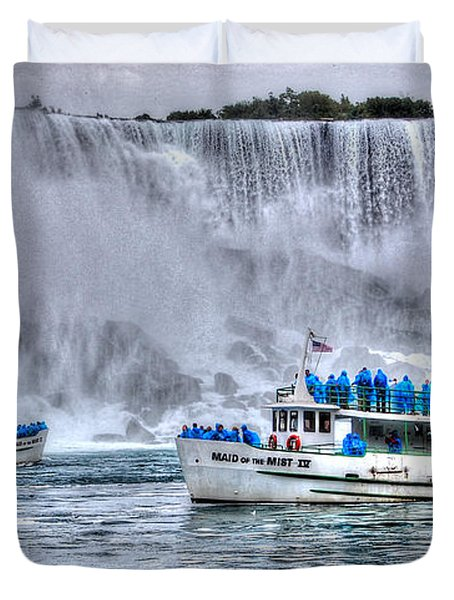 Maid Of The Mist Duvet Cover by Bianca Nadeau