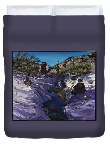 Maiden Pools Duvet Cover