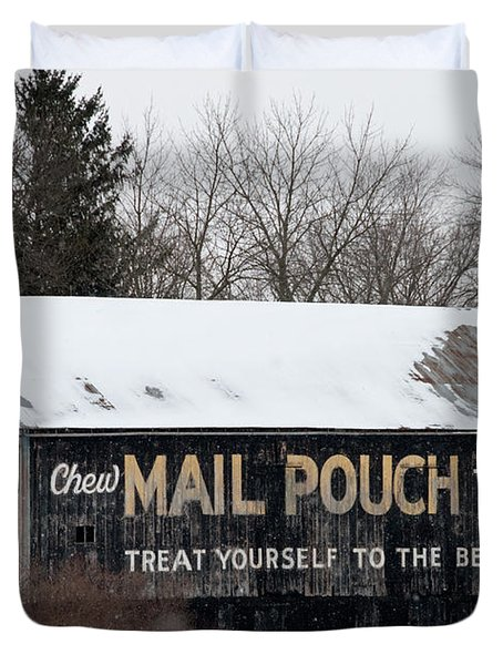 Mail Pouch Tobacco Barn Duvet Cover
