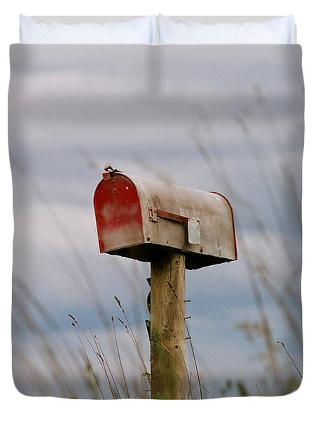 Mailbox Duvet Cover by Michele Wright