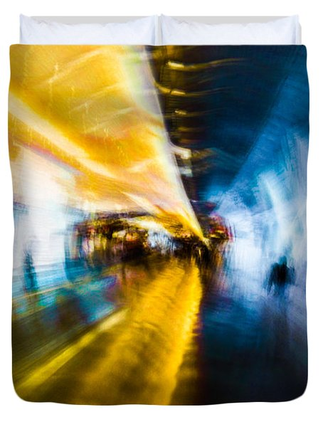 Duvet Cover featuring the photograph Main Access Tunnel Nyryx Station by Alex Lapidus