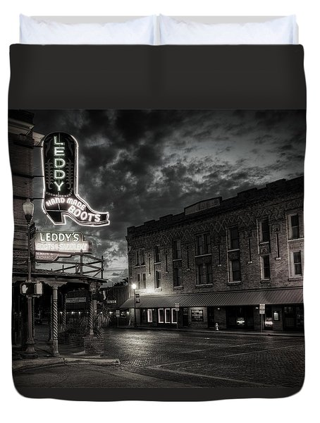 Main And Exchange Bw Duvet Cover