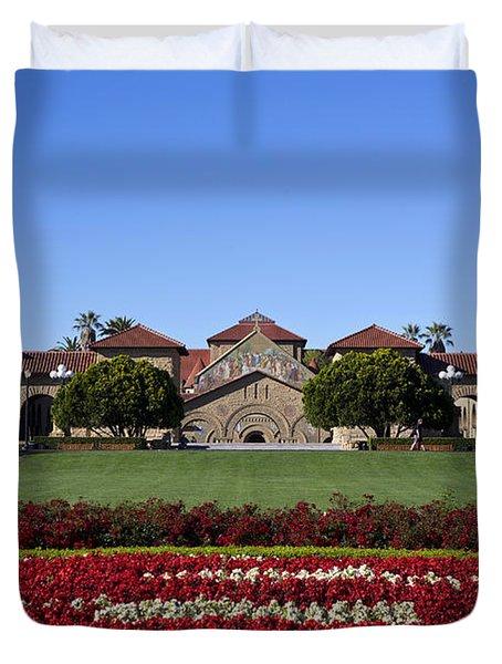 Main Quad Stanford California Duvet Cover