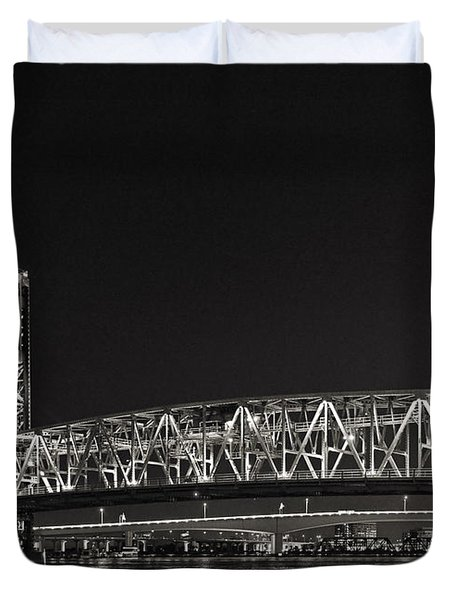 Main Street Bridge Jacksonville Florida Duvet Cover