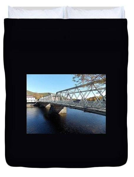 Main Street Bridge Shelbourne Falls  Duvet Cover