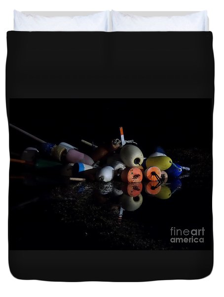 Maine After Dark Duvet Cover by HEVi FineArt