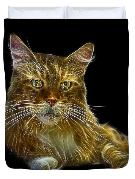 Maine Coon Cat - 3926 - Bb Duvet Cover by James Ahn
