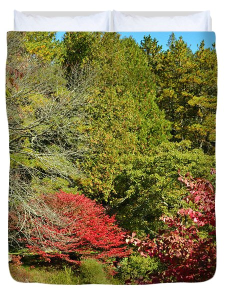 Maine Fall Colors Duvet Cover