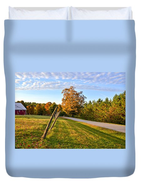 Maine Morning Duvet Cover