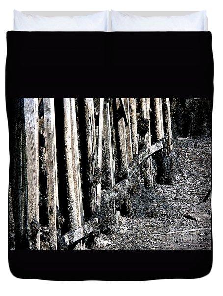 Maine Pier Duvet Cover by HEVi FineArt