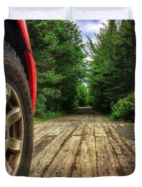 Maine Roads Duvet Cover