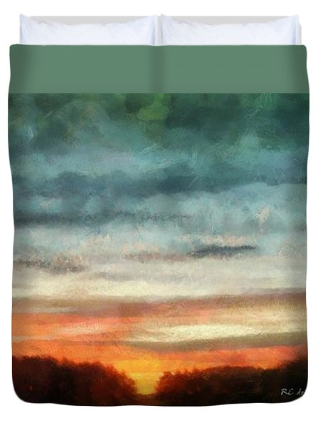 Maine Sunset Duvet Cover by RC deWinter