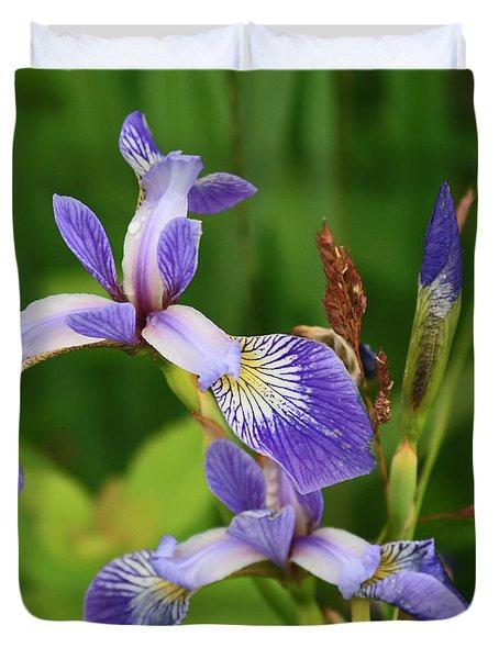 Maine Wild Iris Duvet Cover