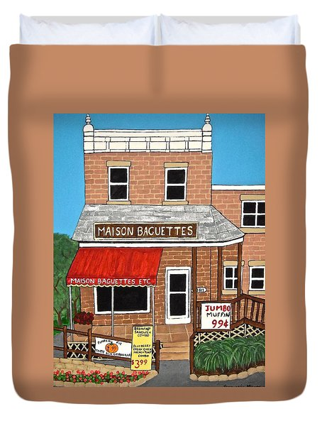 Maison Baguettes Duvet Cover by Stephanie Moore