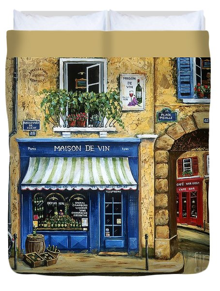 Maison De Vin Duvet Cover by Marilyn Dunlap