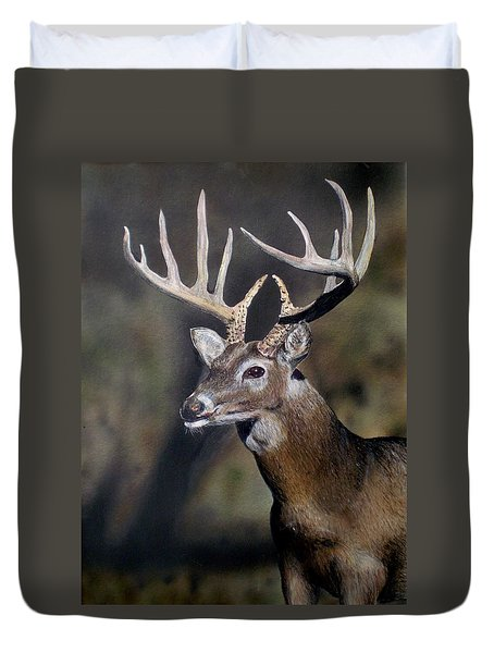 Majestic Buck Duvet Cover by Todd Spaur
