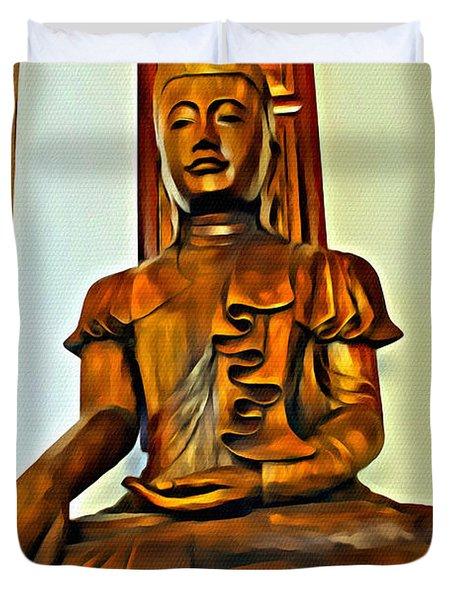 Majestic Buddha Duvet Cover
