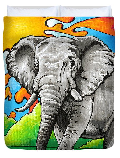 Majestic Elephant Duvet Cover