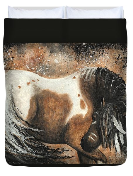 Majestic Horse Series 74 Duvet Cover by AmyLyn Bihrle