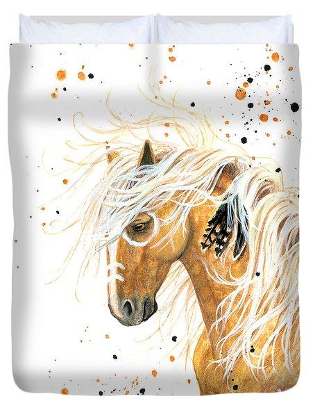 Majestic Palomino Horse 84 Duvet Cover