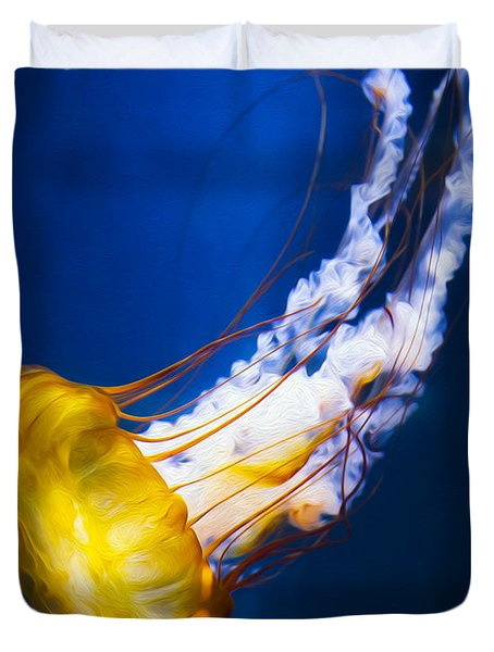 Majestic Jellyfish Duvet Cover