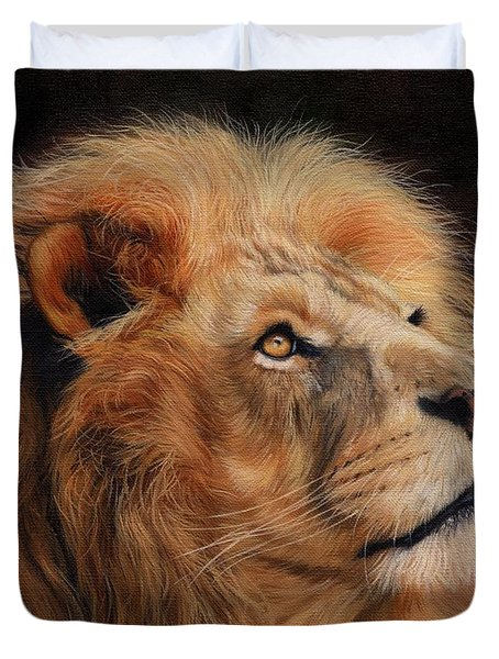 Majestic Lion Duvet Cover by David Stribbling