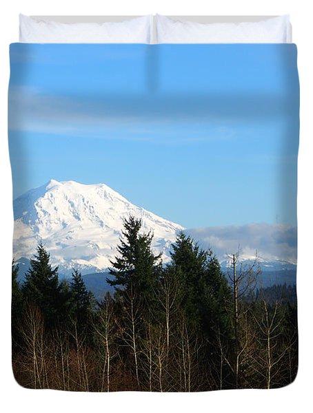 Majestic Mount Rainier Duvet Cover