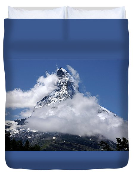 Majestic Mountain  Duvet Cover by Annie Snel