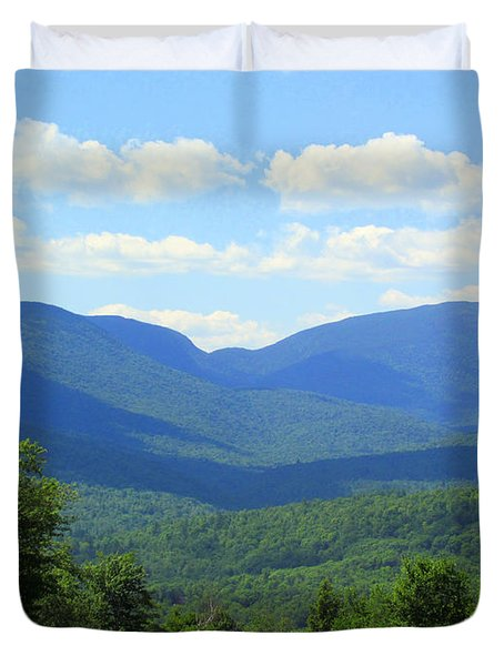 Majestic Mountains Duvet Cover by Elizabeth Dow
