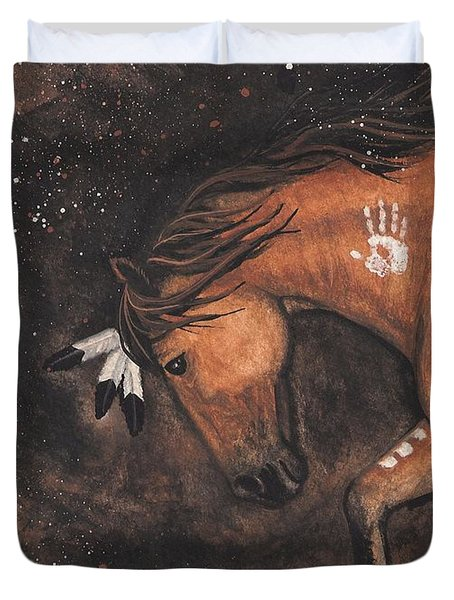 Majestic Mustang Series 40 Duvet Cover by AmyLyn Bihrle