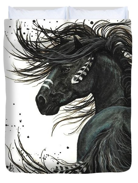 Majestic Spirit Horse 65 Duvet Cover by AmyLyn Bihrle
