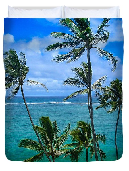 Majestic Palm Trees Duvet Cover