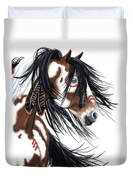 Majestic Pinto Horse Duvet Cover by AmyLyn Bihrle