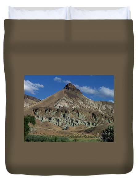 Duvet Cover featuring the photograph Majestic Rimrock by Chalet Roome-Rigdon