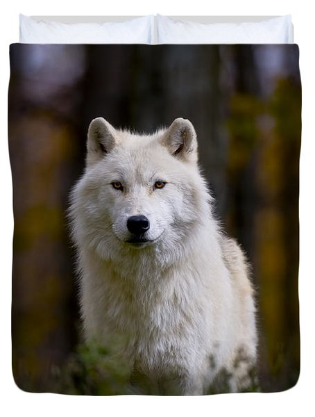 Duvet Cover featuring the photograph Majesty by Wolves Only