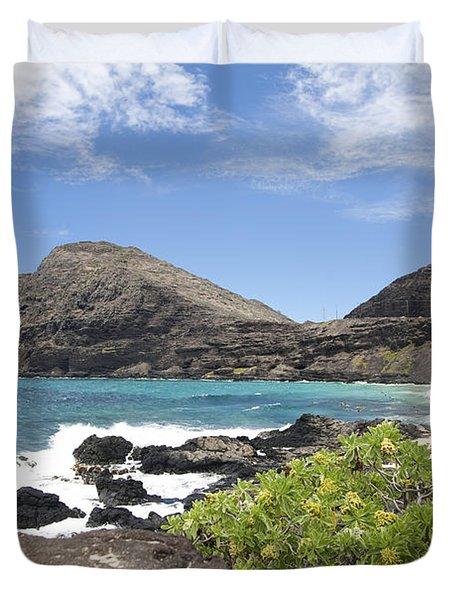 Makapuu Beach Duvet Cover by Brandon Tabiolo