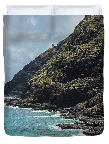Makapuu Point 1 Duvet Cover by Leigh Anne Meeks