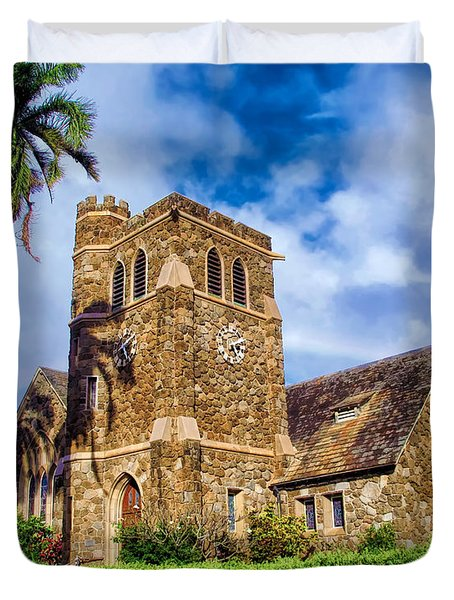 Makawao Union Church 1 Duvet Cover