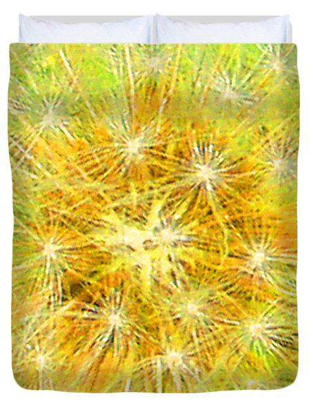 Make A Wish In Greenish Yellow Duvet Cover