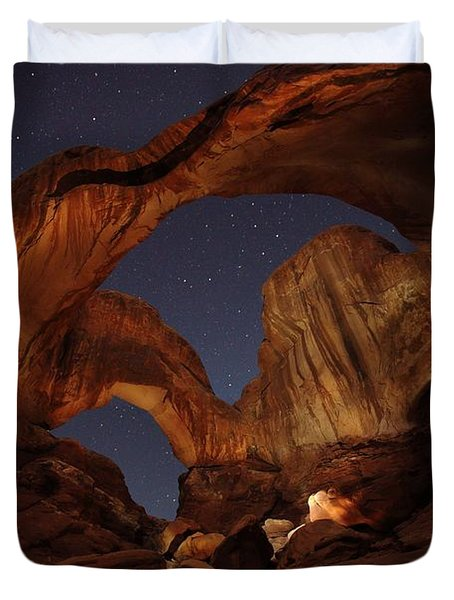 Duvet Cover featuring the photograph Gimme Another Double by David Andersen