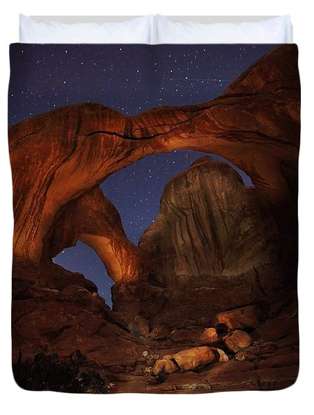 Duvet Cover featuring the photograph Make It A Double by David Andersen