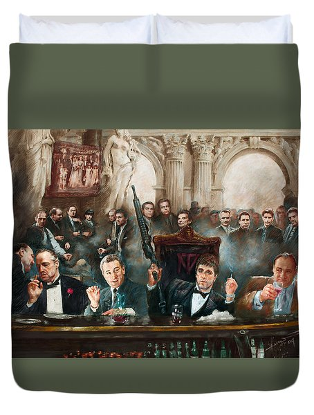 Make Way For The Bad Guys Col Duvet Cover by Ylli Haruni
